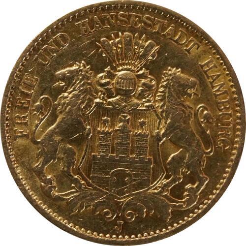 Vorderseite:Deutschland : 10 Mark   1898 vz.