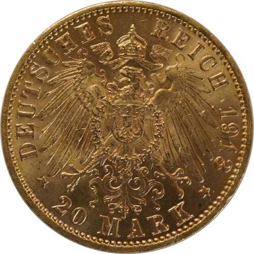 Rückseite:Deutschland : 20 Mark   1913 vz.