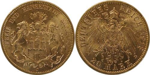 Lieferumfang:Deutschland : 20 Mark   1913 vz.