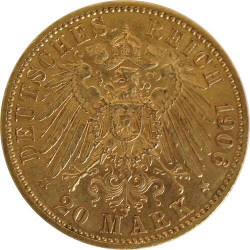 Rückseite :Deutschland : 20 Mark   1906 vz.