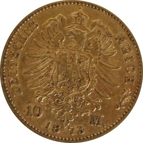 Rückseite:Deutschland : 10 Mark   1873 f.ss