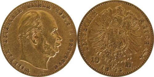 Lieferumfang:Deutschland : 10 Mark   1873 f.ss