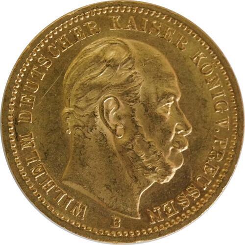 Vorderseite:Deutschland : 20 Mark  winz. Rs., winz. Kratzer 1872 vz/Stgl.