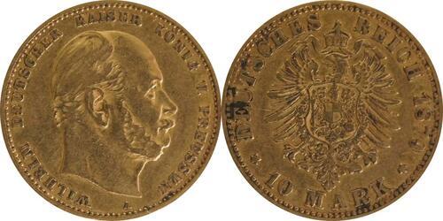 Lieferumfang :Deutschland : 10 Mark   1879 f.ss