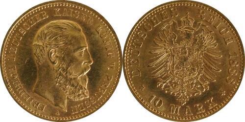 Lieferumfang :Deutschland : 10 Mark Friedrich winz. Kratzer 1888 vz/Stgl.