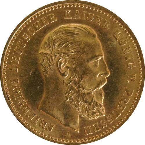 Vorderseite :Deutschland : 10 Mark Friedrich winz. Kratzer 1888 vz/Stgl.