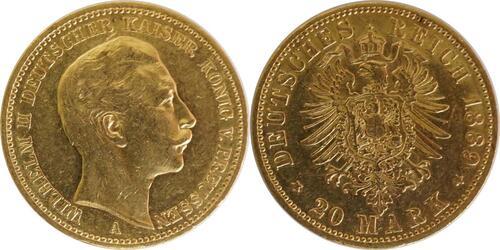 Lieferumfang:Deutschland : 20 Mark  winz. Kratzer 1889 ss.