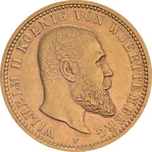 Vorderseite:Deutschland : 10 Mark  winz. Kratzer 1904 vz.