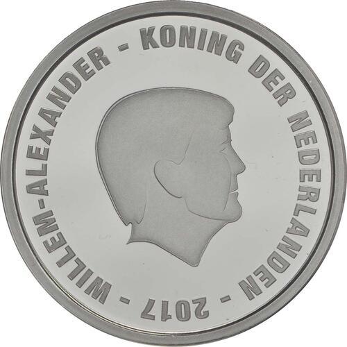 Rückseite:Niederlande : 5 Euro Johan Cruijff  2017 PP