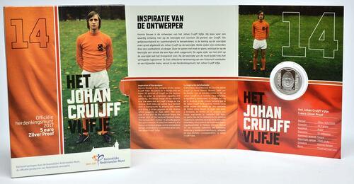Lieferumfang:Niederlande : 5 Euro Johan Cruijff  2017 PP