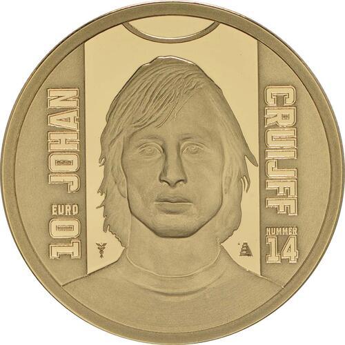 Vorderseite:Niederlande : 10 Euro Johan Cruijff  2017 PP