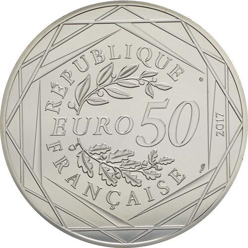 Rückseite:Frankreich : 50 Euro Ausgabe 2  2017 bfr