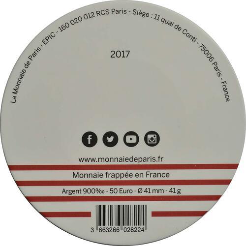 Zertifikat:Frankreich : 50 Euro Ausgabe 2  2017 bfr