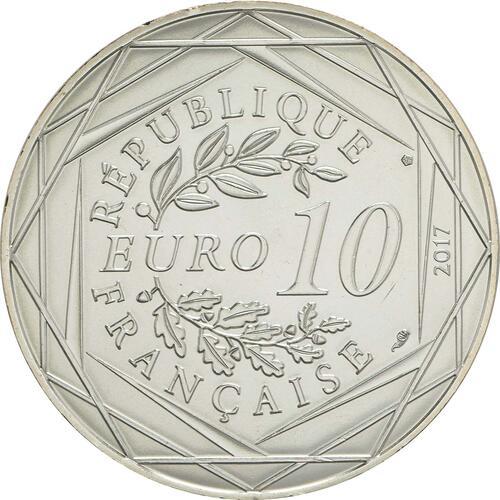 Rückseite:Frankreich : 10 Euro L'Outre-mer étincelant  2017 bfr