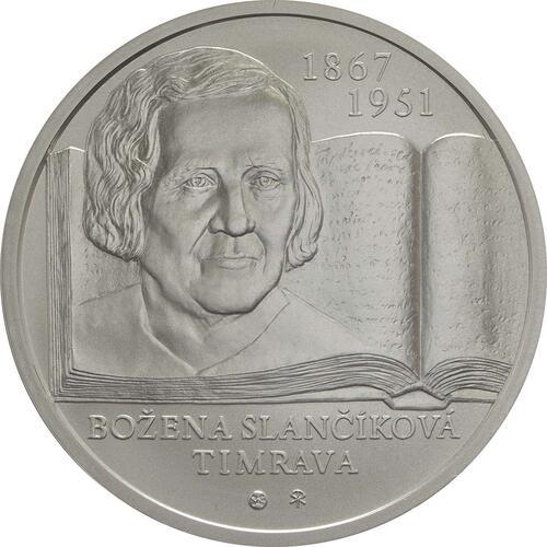 Vorderseite:Slowakei : 10 Euro 150. Geb. Bozena Slancikova-Timrava (Schriftstellerin)  2017 Stgl.