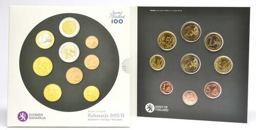 Lieferumfang:Finnland : 5,88 Euro KMS Finnland II. enthält beide 2 Euro Gedenkmünzen  2017 Stgl.