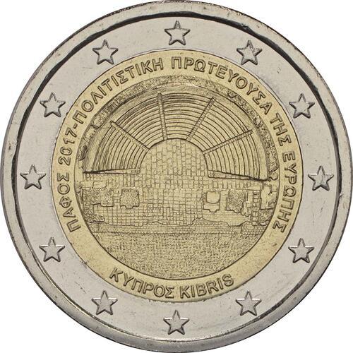 Rückseite:Zypern : 2 Euro Kulturhauptstadt Paphos  2017 bfr