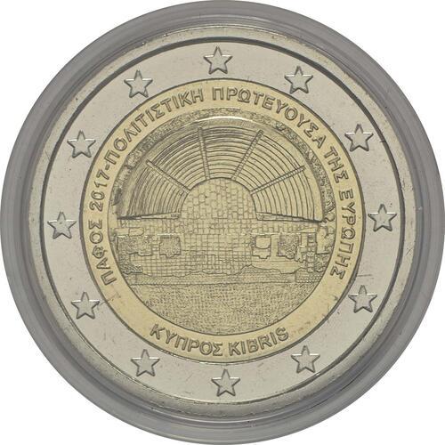 Rückseite:Zypern : 2 Euro Kulturhauptstadt Paphos  2017 Stgl.