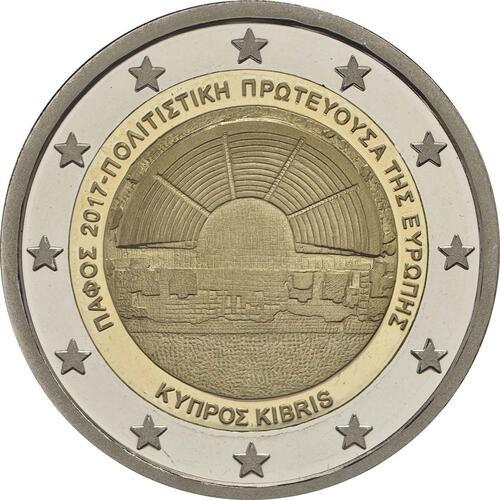 Rückseite:Zypern : 2 Euro Kulturhauptstadt Paphos  2017 PP