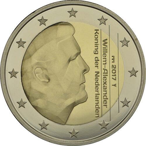 Rückseite:Niederlande : 2 Euro neuer Münzmeister - Kuni  2017 PP