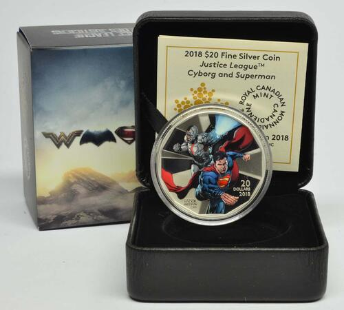 Lieferumfang :Kanada : 20 Dollar The Justice League-Cyborg & Superman  2018 PP