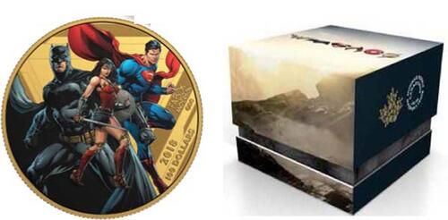 Lieferumfang :Kanada : 100 Dollar The Justice League - The World´s Greatest Superheroes  2018 PP