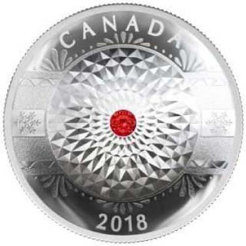 Lieferumfang :Kanada : 20 Dollar Weihnachts-Ornament - mit Swarowski Kristall  2018 PP