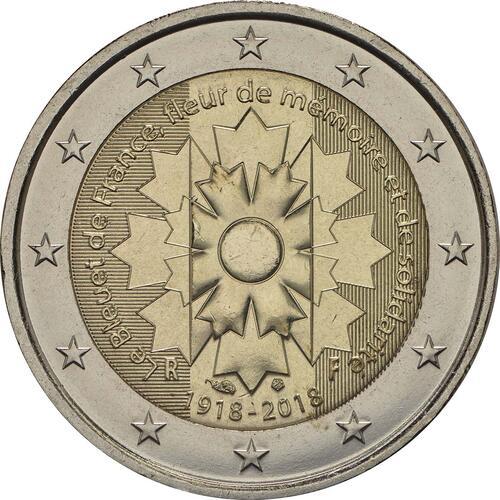 Rückseite:Frankreich : 2 Euro Kornblume  2018 bfr