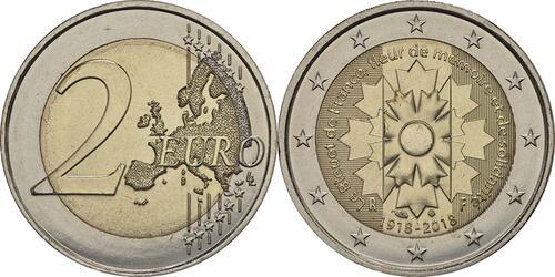 Lieferumfang:Frankreich : 2 Euro Kornblume  2018 bfr