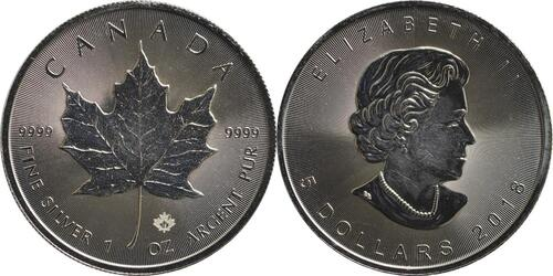 Lieferumfang :Kanada : 5 Dollar Maple Leaf  2018 Stgl.