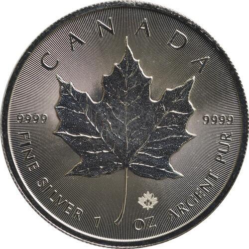 Vorderseite :Kanada : 5 Dollar Maple Leaf  2018 Stgl.