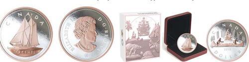 Lieferumfang:Kanada : 10 Cent Große Münzen - Bluenose  2018 PP