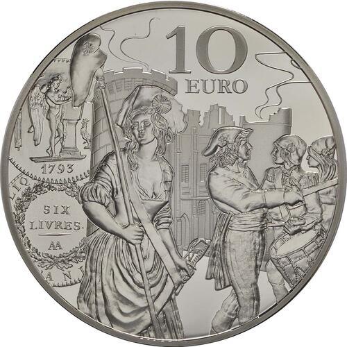 Vorderseite:Frankreich : 10 Euro Ecu de 6 Livres  2018 PP