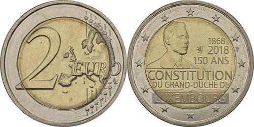 Lieferumfang:Luxemburg : 2 Euro 150 Jahre Verfassung  2018 bfr