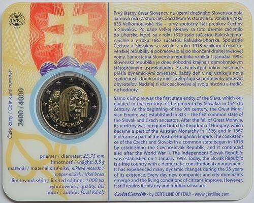 Zertifikat:Slowakei : 2 Euro 25 Jahre Slowakische Republik  2018 Stgl.