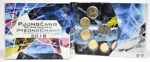 Lieferumfang :Slowakei : 3.88 Euro KMS Slowakei Winterolympiade Pyeong Chang  2018 Stgl.