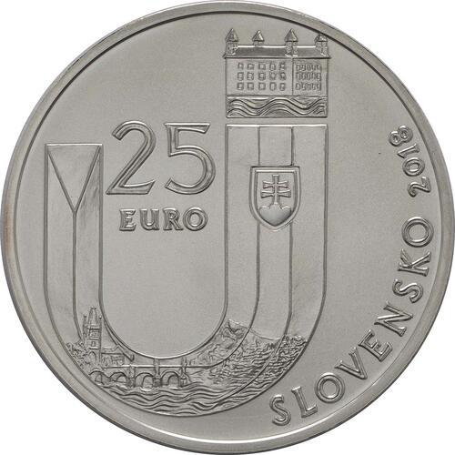 Rückseite:Slowakei : 25 Euro 25 Jahre Slowakische Republik  2018 Stgl.