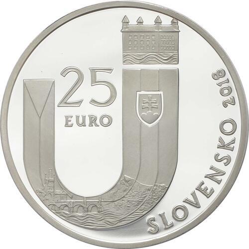 Rückseite:Slowakei : 25 Euro 25 Jahre Slowakische Republik  2018 PP