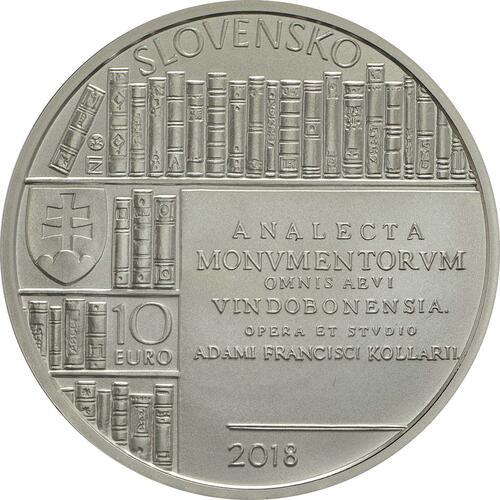 Rückseite :Slowakei : 10 Euro Adam Frantisek Kollar  2018 Stgl.