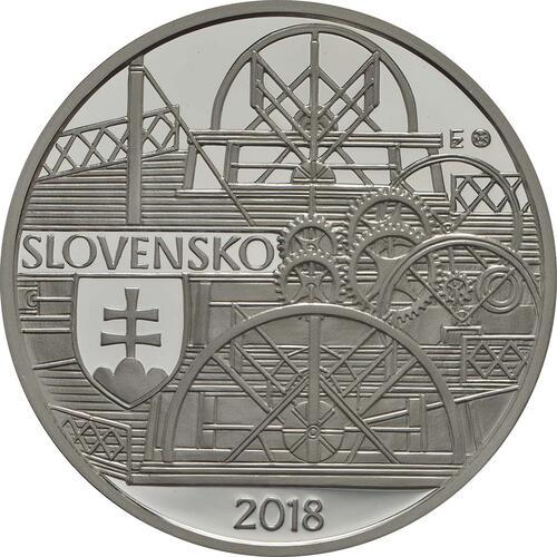 Vorderseite:Slowakei : 10 Euro Schiffahrt erstes Dampfschiff auf der Donau - 200. Jahrestag  2018 PP