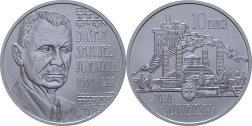 Lieferumfang:Slowakei : 10 Euro Dusan Samuel Jurkovic  2018 Stgl.