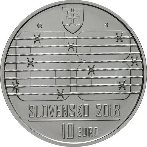 Rückseite:Slowakei : 10 Euro Invasion des Warschauer Paktes in der Tschechoslowakei August 1968  2018 Stgl.