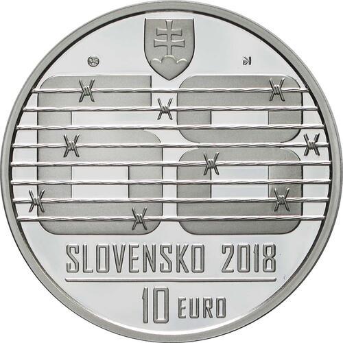 Rückseite:Slowakei : 10 Euro Invasion des Warschauer Paktes in der Tschechoslowakei August 1968  2018 PP