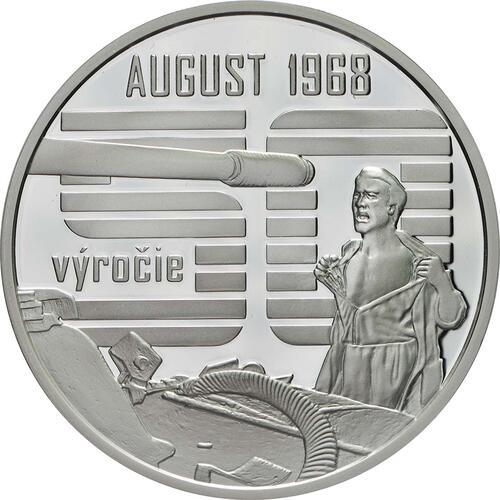 Vorderseite:Slowakei : 10 Euro Invasion des Warschauer Paktes in der Tschechoslowakei August 1968  2018 PP