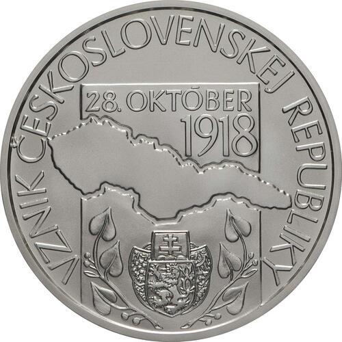 Vorderseite:Slowakei : 10 Euro Gründung der Tschechischen Republik - 100. Jahrestag  2018 Stgl.