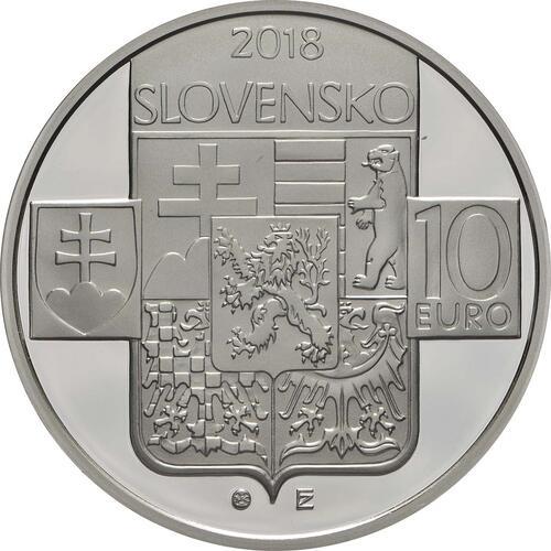 Rückseite:Slowakei : 10 Euro Gründung der Tschechischen Republik - 100. Jahrestag  2018 PP
