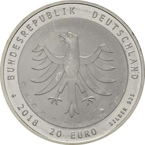 Rückseite:Deutschland : 20 Euro 275 Jahre Gewandhausorchester  2018 bfr