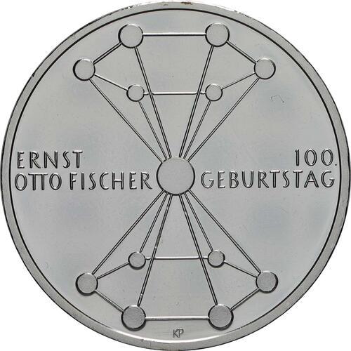 Vorderseite:Deutschland : 20 Euro 100. Geburtstag Ernst Otto Fischer  2018 bfr