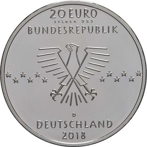 Rückseite:Deutschland : 20 Euro 100. Geburtstag Ernst Otto Fischer  2018 PP