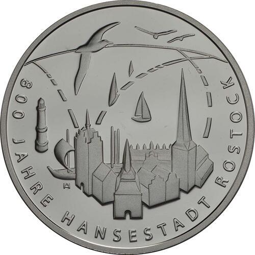 Vorderseite:Deutschland : 20 Euro 800 Jahre Hansestadt Rostock  2018 PP